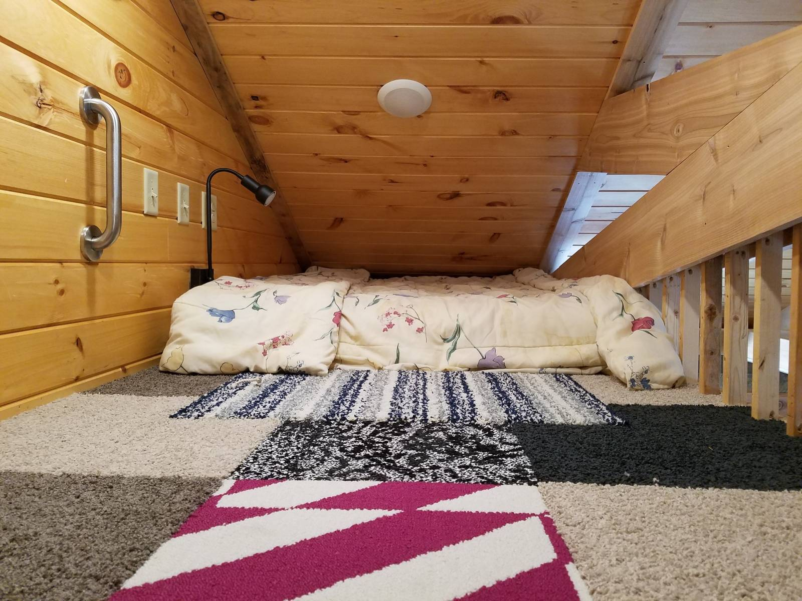 Cozy sleeping with full futon in the loft.